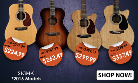 2016 Sigma Guitars Price Drop
