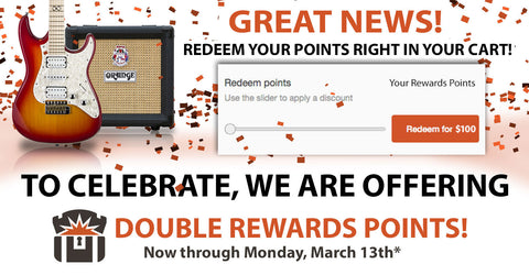 New Rewards Slider Announcement + Double Rewards Points ALL Weekend
