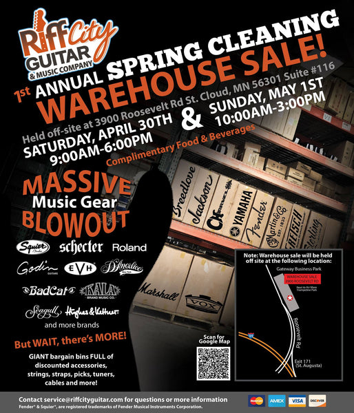 Riff City Guitar Spring Cleaning Warehouse Sale