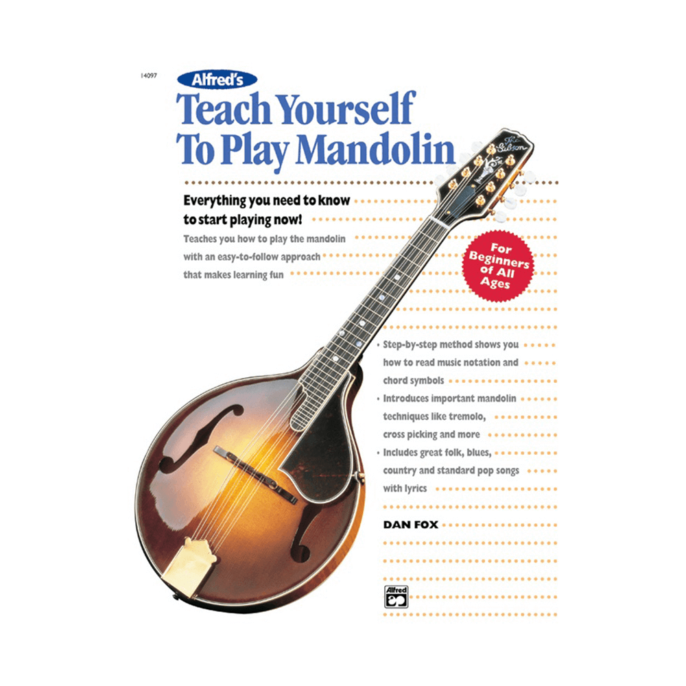 Alfreds Teach Yourself To Play Mandolin Book Riff City Guitar Outlet