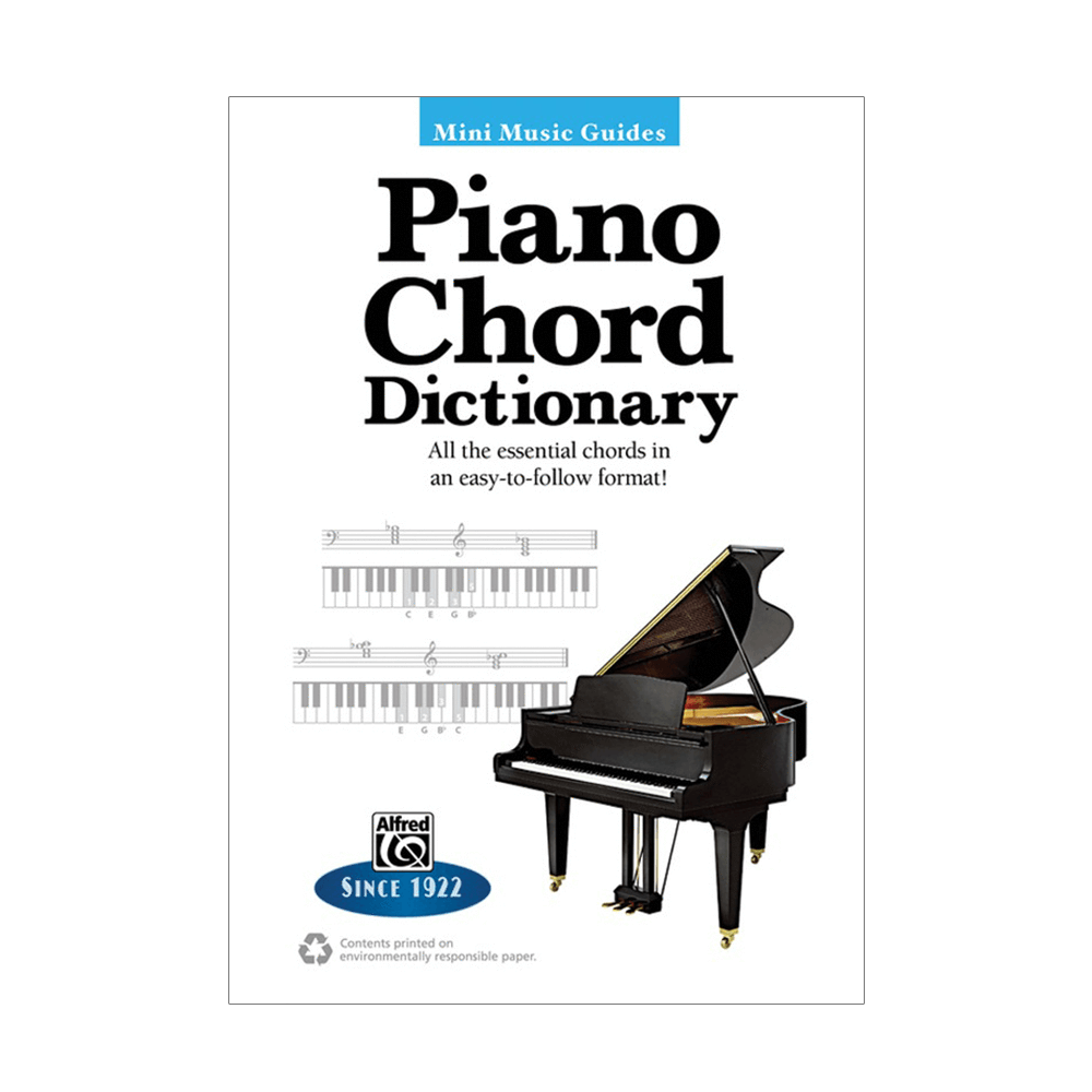 Mini Music Guides Piano Chord Dictionary Riff City Guitar Outlet