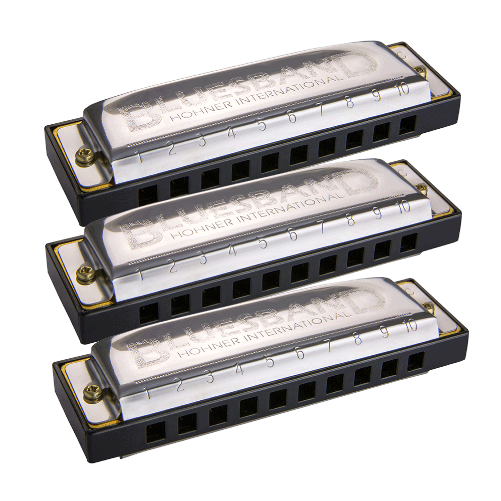 Hohner Blues Band Harmonica 3-Pack - G, C, A