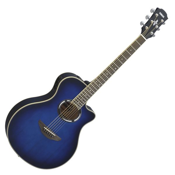 yamaha apx500iii thinline spruce top oriental blue burst riff city guitar outlet. Black Bedroom Furniture Sets. Home Design Ideas