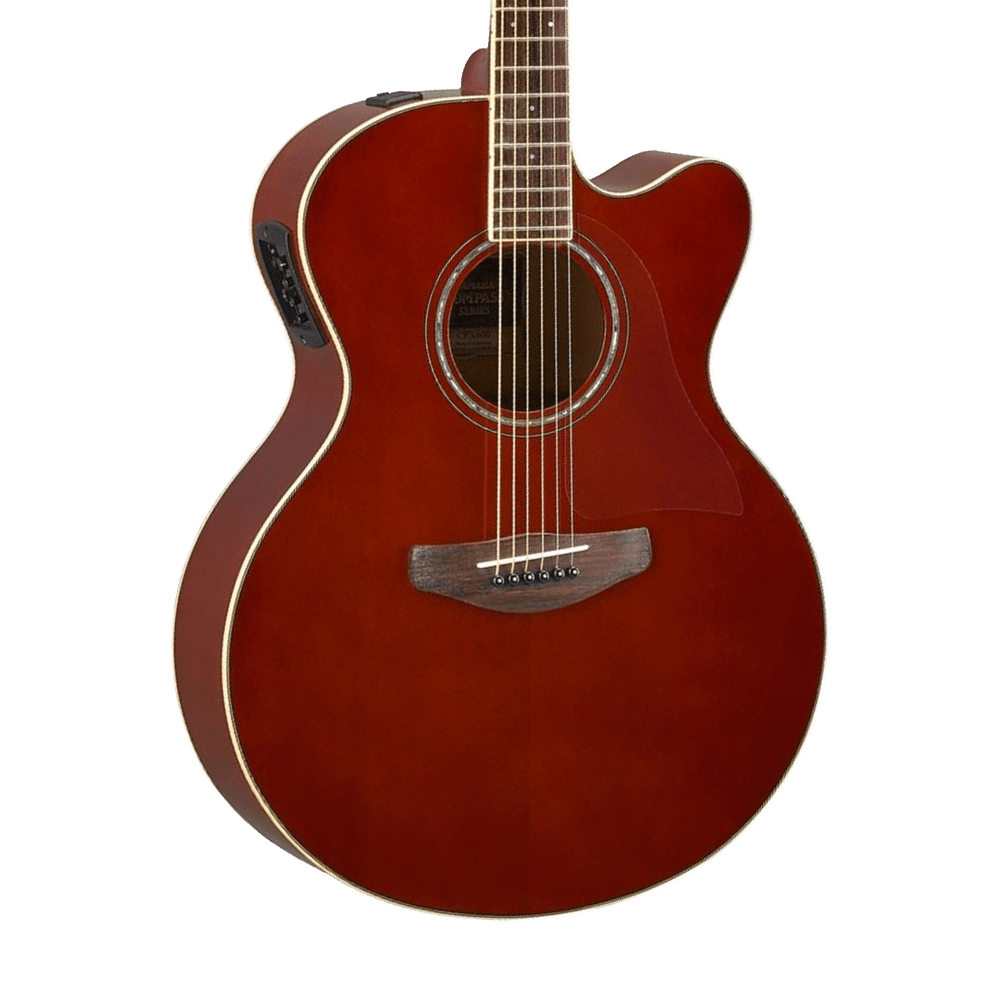 yamaha cpx600 acoustic electric guitar root beer riff city