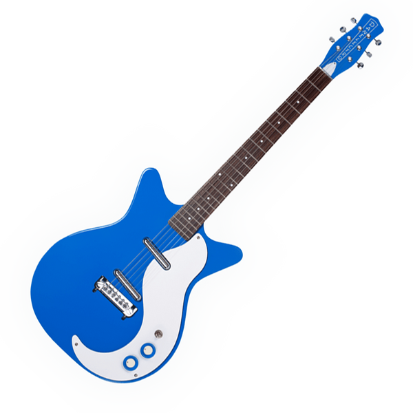 danelectro 39 59m nos double cutaway electric guitar blue riff city guitar outlet. Black Bedroom Furniture Sets. Home Design Ideas