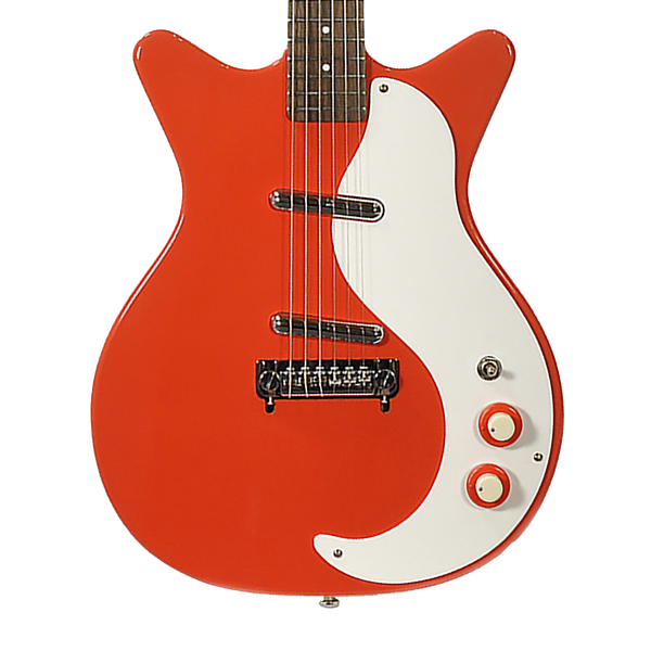 danelectro 39 59m nos double cutaway electric guitar red riff city guitar outlet. Black Bedroom Furniture Sets. Home Design Ideas