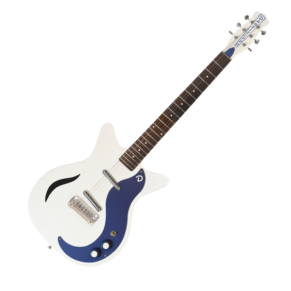 danelectro 39 59m spruce electric guitar white pearl blue riff city guitar outlet. Black Bedroom Furniture Sets. Home Design Ideas