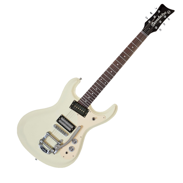 danelectro 39 64 electric guitar with bigsby vintage white riff city guitar outlet. Black Bedroom Furniture Sets. Home Design Ideas