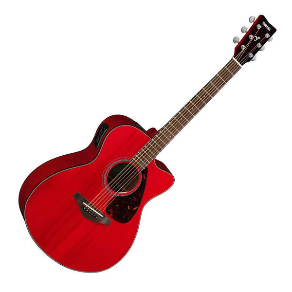 yamaha fsx800c acoustic electric guitar ruby red riff city guitar outlet. Black Bedroom Furniture Sets. Home Design Ideas