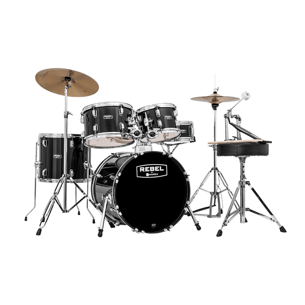 Mapex Rebel 5 Piece Complete Drum Set 18 Bass Drum