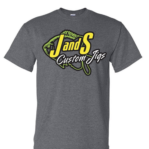 J AND S CUSTOM JIGS DRY FIT T-SHIRT DARK HEATHER