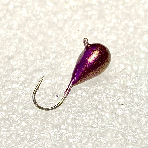 TEARDROP RON BURGUNDY (PURPLE/GOLD)