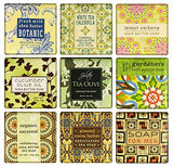 French Milled Botanical Soap Sampler Set in Nine Fabulous Scents, Individually Wrapped  (Pure and Simple)