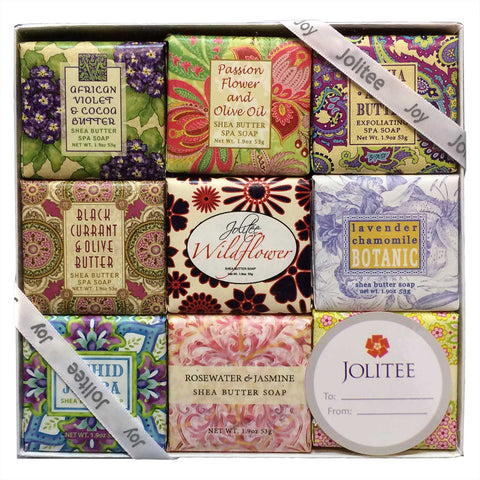 French Milled Botanical Soap Sampler Set in Nine Fabulous Scents (Floral Favorites)