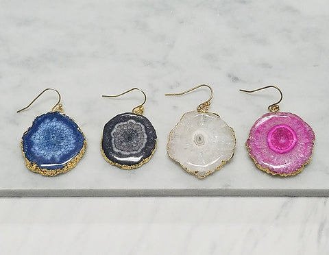 Minerva Agate Earrings