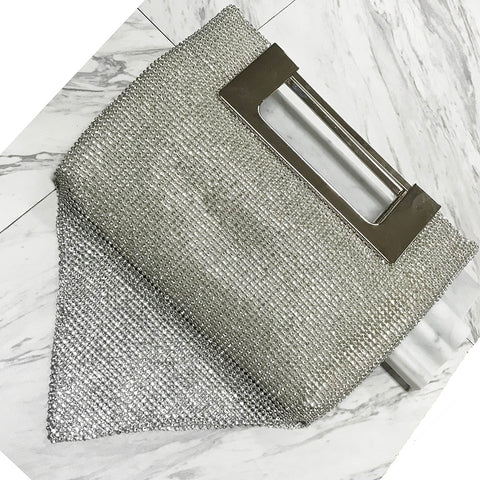 Crystal Drape Clutch