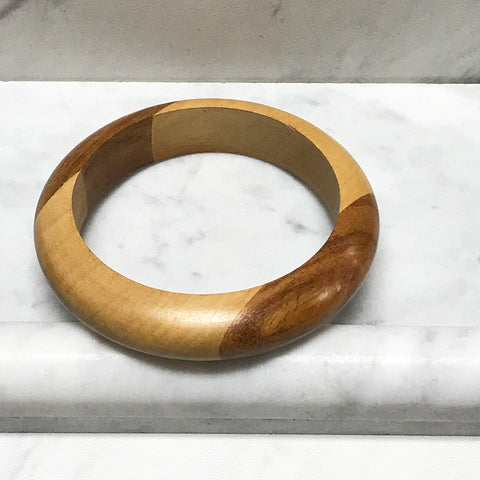 Two-Tone Wooden Bangle
