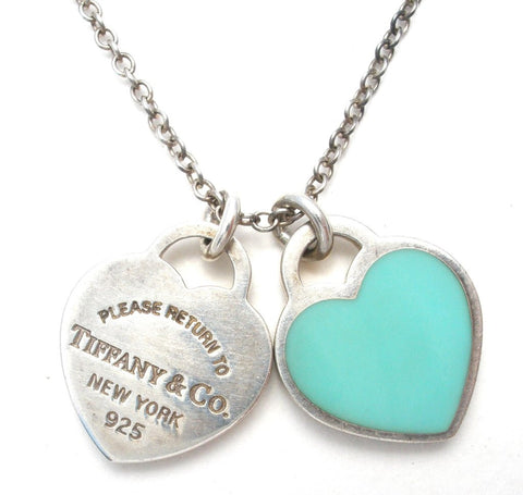 Tiffany and Co blue heart necklace the jewelry lady's store