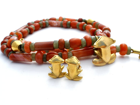 http://thejewelryladysstore.com/collections/sets/products/18k-gold-carnelian-jade-frog-necklace-earrings-set?variant=9612556099