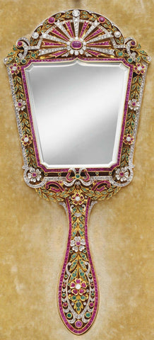 vintage mirror compacts and vanity at the jewelry lady's store