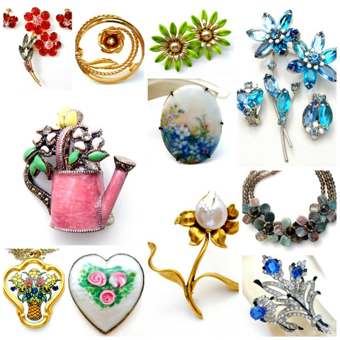 Vintage flower jewelry for Mother's Day