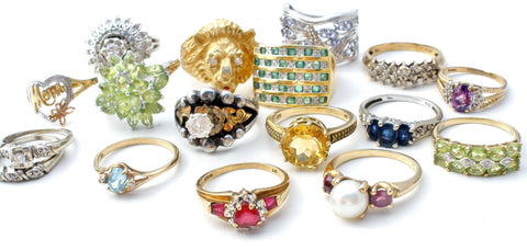 vintage antique jewelry rings gemstones 10k 14k gold
