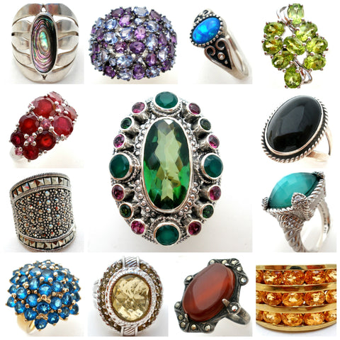 vintage and antique rings gemstones gold sterling - The Jewelry Lady's Store