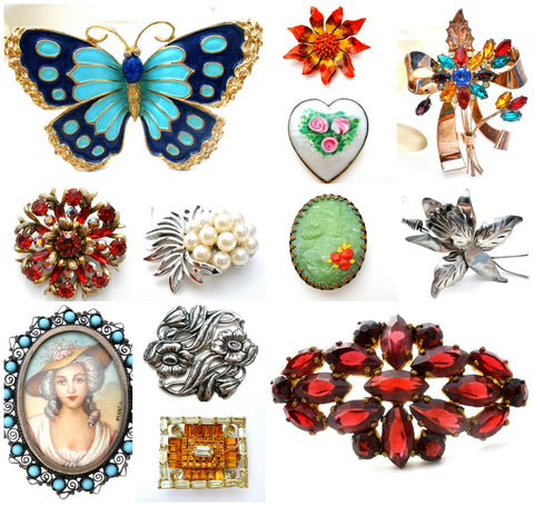 Vintage brooches antique jewellery The Jewelry Lady's Store