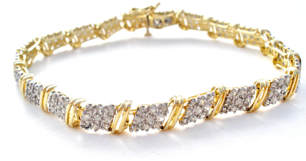 10K Gold Diamond Tennis Bracelet MGM - The Jewelry Lady's Store