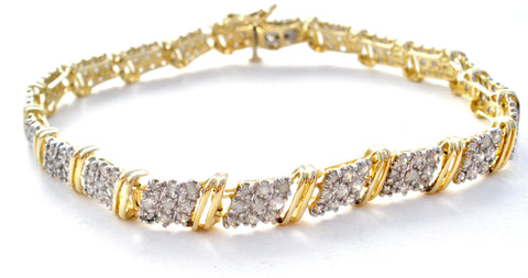 10K Gold Diamond Tennis Bracelet MGM