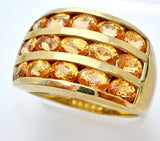 10K Yellow Gold Ring with Citrine Gems - The Jewelry Lady's Store
