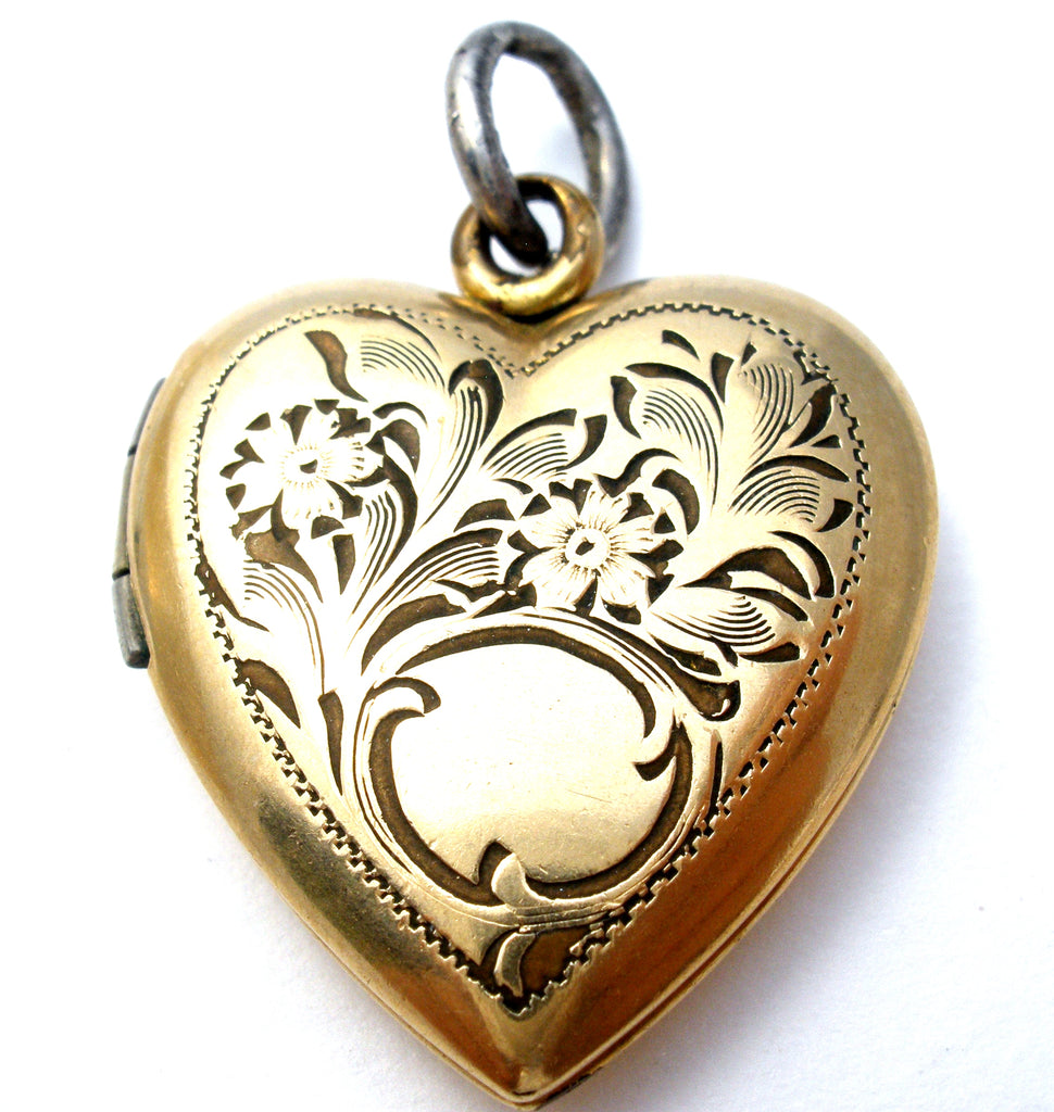 14K Gold Filled Locket Pendant Hyco Vintage - The Jewelry Lady's Store