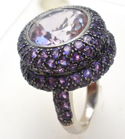 18K White Gold Amethyst Ring JMP
