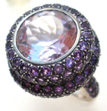 18K White Gold Amethyst Ring JMP - The Jewelry Lady's Store