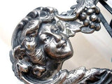 Art Nouveau Lady Buckle Sterling Silver Sash Ornament Wedding - The Jewelry Lady's Store