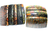 5 Pair of Floral Hair Combs - The Jewelry Lady's Store