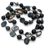 Abalone Shell & Black Onyx Bead Necklace - The Jewelry Lady's Store