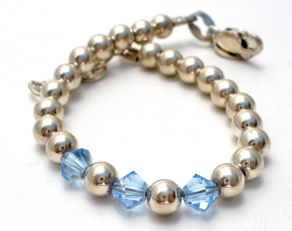 Adjustable Infant Sterling Silver Bead Bracelet Emily Ray - The Jewelry Lady's Store