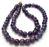 "Amethyst Bead Necklace 15.5"" Vintage 14K G.F. - The Jewelry Lady's Store"