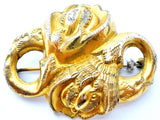 Victorian Gold Plated Floral Brooch Antique Flower Pin - The Jewelry Lady's Store