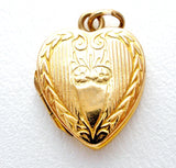 Antique 10K Gold Heart Locket Pendant Bates & Bacon - The Jewelry Lady's Store