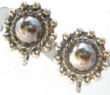 Art Deco Sterling Silver Screwback Earrings - The Jewelry Lady's Store
