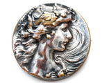 Art Nouveau Lady Brooch Pin Sterling Silver - The Jewelry Lady's Store