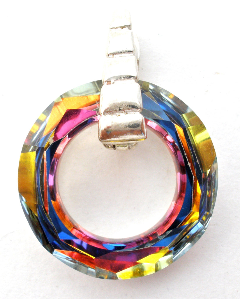 Austrian Crystal Circle of Life Enhancer Pendant - The Jewelry Lady's Store