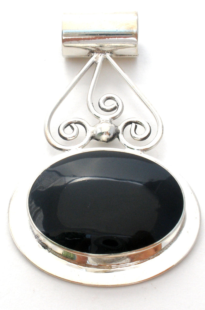 Black Onyx 925 Pendant by Talleres Lagunas - The Jewelry Lady's Store