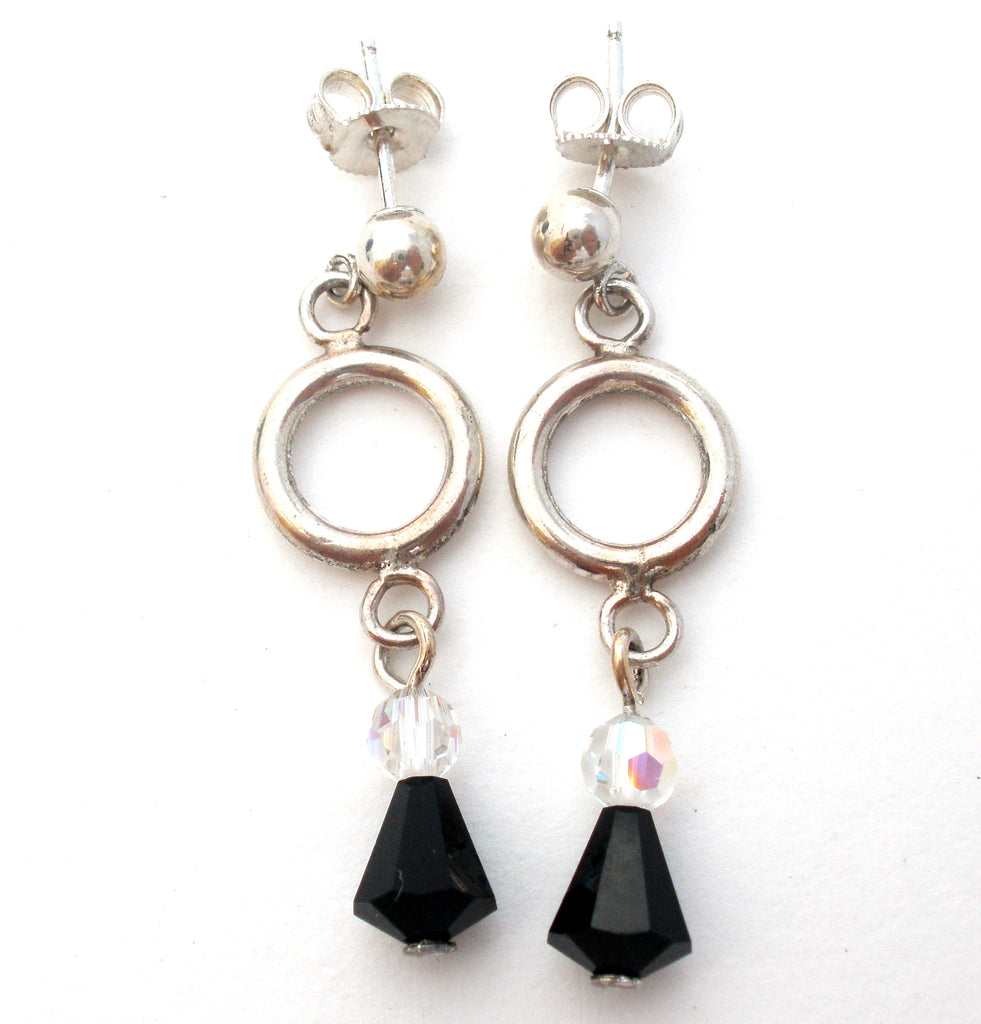 Black Onyx Sterling Earrings by Emily Ray - The Jewelry Lady's Store