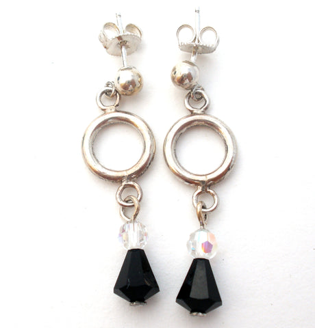 Black Onyx Sterling Earrings by Emily Ray