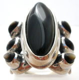 Black Onyx Sterling Silver Ring Carolyn Pollack Relios - The Jewelry Lady's Store