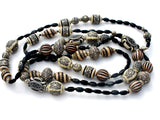 Black & White Long Tribal Bead Necklace - The Jewelry Lady's Store