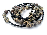 Black & White Long Tribal Bead Necklace - The Jewelry Lady's Store - 4
